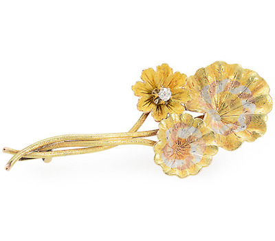 Ode to the Lily Pad: Antique Flower Brooch