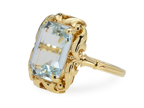 Into the Looking Glass: Aquamarine Ring