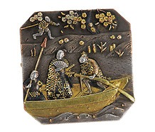 Superb 19th C. Shakudo Brooch