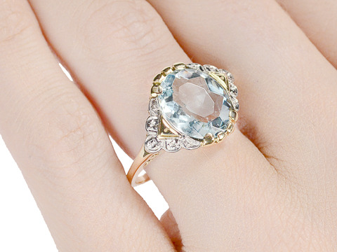 Reality of Illusion: Vintage Aquamarine Ring