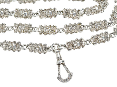 Renaissance Revival Whimsy - Silver Necklace
