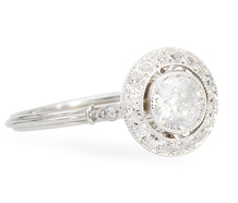 Rising Tides - Diamond Halo Engagement Ring