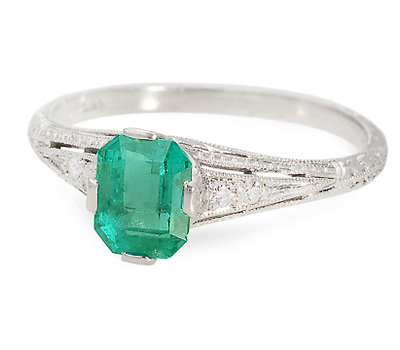 Color Allure - Emerald Diamond Ring