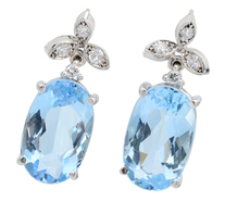 Tranquility: Aquamarine Diamond Earrings