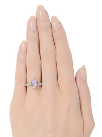 The Lunar Hypnotic - Vintage Moonstone Ring