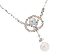 Opposites Attract: Vintage Pearl & Diamond Necklace