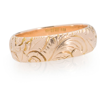 Antique Rose Gold Eternity Band