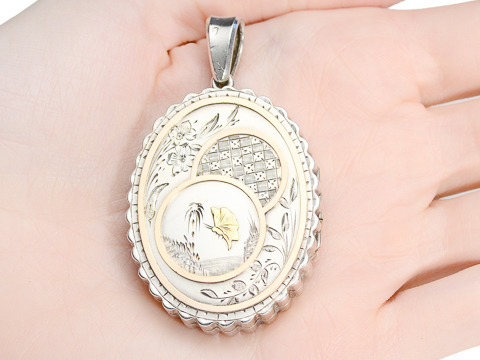 Victorian Aesthetic Period Silver Locket