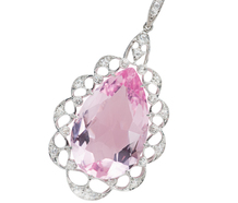 Extravagant Morganite Diamond Pendant