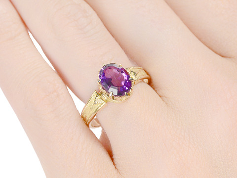 Victorian Charm in an Amethyst Ring