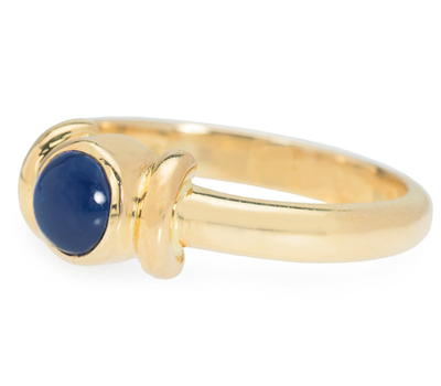 Now & Then: Sapphire Cabochon Gold Ring