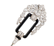 Art Deco Sublime: Diamond Jabot Pin