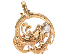 Art Nouveau Mythos in a Dragon Pendant