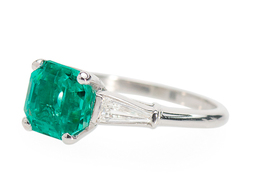 Allure of an Emerald Diamond Ring