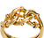 Edwardian Love Knot Motif Gold Ring