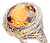 The Glow of a Vintage Citrine Pearl Ring