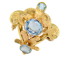 Aquamarine Dream - Victorian Brooch