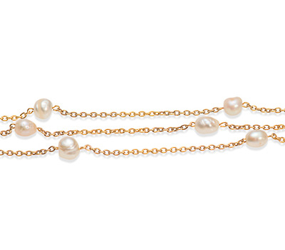 Embraced by a Freshwater Pearl Necklace