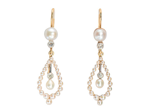 Edwardian Lush & Luxury: Natural Pearl Earrings