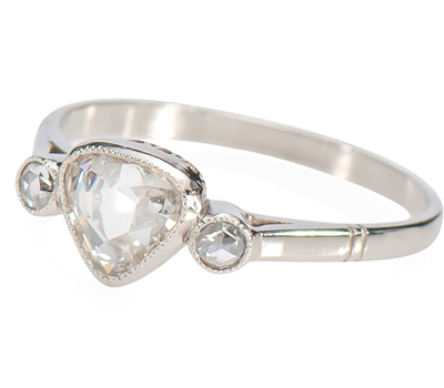 Heartfelt: Diamond Platinum Ring