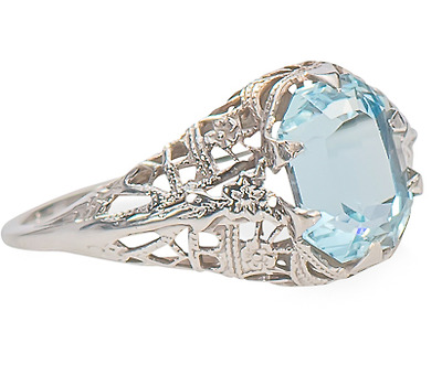 Skyward - Aquamarine Filigree Ring