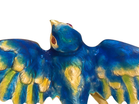 In Flight - Enamel Swallow Brooch