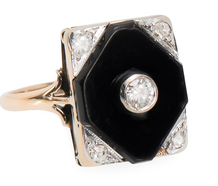 Vintage Onyx Diamond Ring