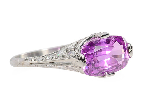 Exquisite No Heat Pink Sapphire Ring