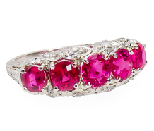 Breathtaking Vintage No Heat Ruby Diamond Ring