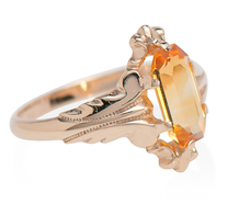 White, Wile & Warner Vintage Citrine Ring