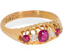 Ruby Diamond Ring Dated 1911