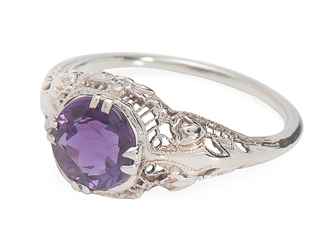 American Royal in a Vintage Amethyst Ring