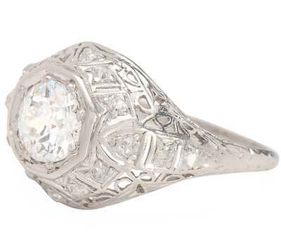 All Eyes On This Art Deco .95 ct. Diamond Ring