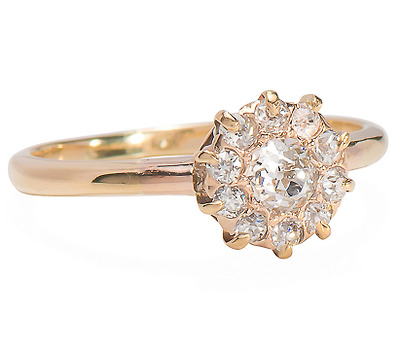 American Fire: Edwardian Diamond Cluster Ring
