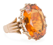 Wow the Crowd: Large Vintage Citrine Ring