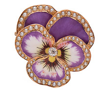 Life Cycle: Art Nouveau Pansy Brooch Pendant