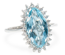 Aquamarine Sublime - Cluster Ring