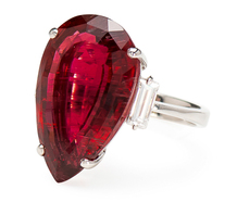Luscious 11.75 ct. Rubellite Diamond Ring