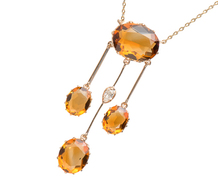 Antique Diamond & Citrine Négligée Necklace