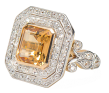 Regalia - Art Deco Topaz Diamond Ring