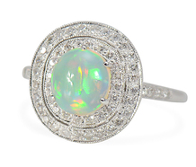 Neon Nights - Opal Diamond Halo Ring
