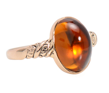 Glowing Antique Citrine Ring