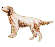 Art Deco Sterling Spaniel Dog Brooch