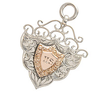 English Rose Gold & Silver Pendant of 1910