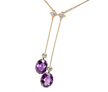 La Belle Époque Amethyst Necklace