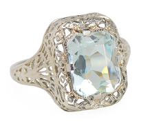 Bridge of Dreams: Vintage Aquamarine Ring
