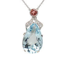 Ocean's Nineteen - Aquamarine Tourmaline Necklace