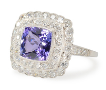 Tiers of Elegance -Tanzanite Diamond Ring