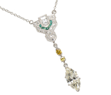 Homage to Elegance: Colored Diamond Necklace