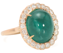 Carousel of Gold: 9.77 C Emerald & Diamond Ring
